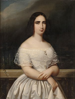 Princess Cecilia of Sweden (1807–1844) - Painting by Theodor Hamacher