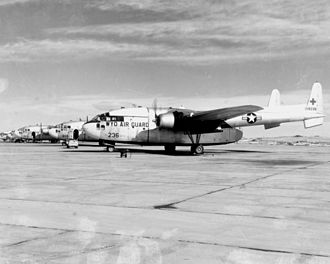 153d Airlift Wing - Fairchild C-119C Flying Boxcar 51-8236 from the 153rd Aeromedical Transport Squadron