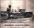C. B. and Q. R. R. locomotive and tender, Manchester Locomotive Works (12225865536).jpg