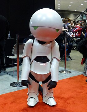 Cosplay de Marvin the Paranoid Android
