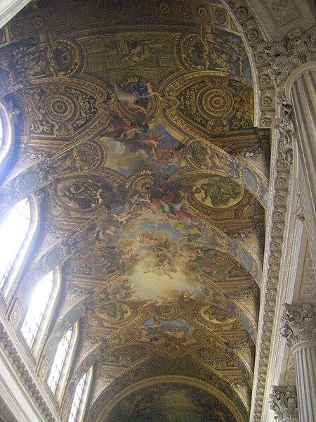 File chapelle royale versailles wikimedia commons - Plafond de la chapelle sixtine description ...