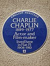 CHARLIE CHAPLIN 1889-1977 Actor and Film-maker lived here in Flat 15 1908-1910.jpg