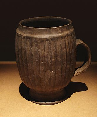 Mug - A mug made on a potter wheel in the Late Neolithic Period (ca. 2500–2000 BCE) in Zhengzhou, China