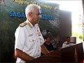 CNS Adm. Sunil Lanba speaking during the flag-off ceremony for Navika Sagar Parikrama.jpg