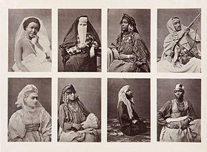 COLLECTIE TROPENMUSEUM Acht studioportretten van Egyptische mannen en vrouwen TMnr 60002268.jpg