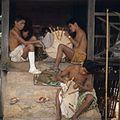 COLLECTIE TROPENMUSEUM Leprapatiënten tijdens het vlechten van hoeden omgeving Rantepao TMnr 20018479.jpg