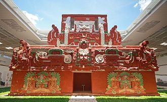 History of Honduras - The Rosalila Temple in the Copan Ruinas Museum.