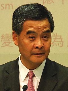 Leung Chun-ying as Chief Executive of Hong Kong