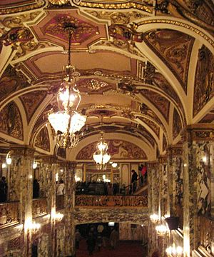 Cadillac Palace Theatre - The French Baroque style of the interior.