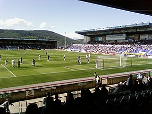 Caledonian Stadium - Inverness playing St Mirren in May 2008 at the Caledonian Stadium.