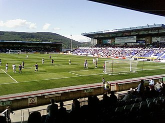 Inverness Caledonian Thistle F.C. - Inverness playing St Mirren in May 2008 at the Caledonian Stadium.