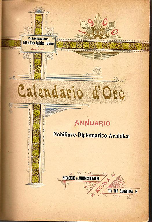 Calendario D.File Calendario D Oro 1900 Pagina 0 Jpg Wikimedia Commons