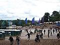 Camp site seen thru the main area (Beautiful Days '08) - panoramio.jpg