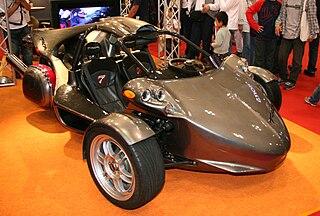 vehicle with three wheels