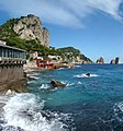 Campania Capri Marina Piccola viewed towards the Faraglioni.jpg