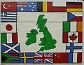 Campsie Mural (Multi-cultural Flags), Campsie, Omagh - geograph.org.uk - 619791.jpg