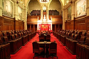 The chamber of the Senate of Canada