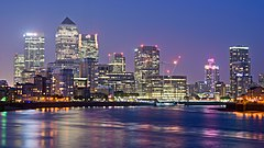 Canary Wharf from Limehouse London June 2016 HDR.jpg