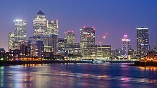 Canary Wharf Major business and financial district in London, England