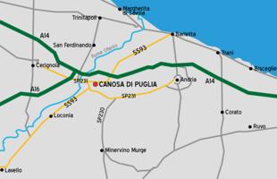 Cartina Autostradale Della Puglia.Canosa Di Puglia Wikipedia