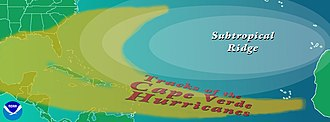 Cape Verde hurricane - Cape Verde hurricane tracks