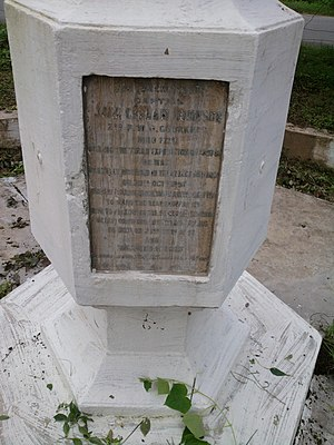 Dehradun - Capt John War memorial maintained by army at Dehradun