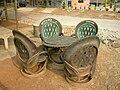 Car tires as seats in Thailand.JPG