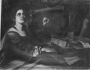 Hl. Cäcilia am Spinett (Nachfolger)