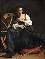 Caravaggio - Saint Catherine of Alexandria (post-restoration image).jpg