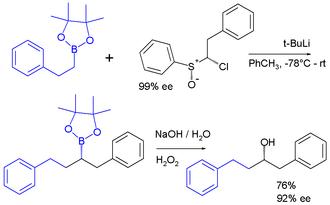 Carbenoid - Insertion of carbenoid into C-B bond