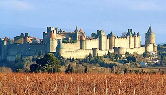 Angevin Empire - Carcassonne was a fortified city of the County of Toulouse
