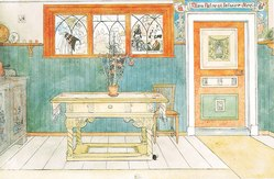 Carl Larsson: The Dining Room. From A Home (26 watercolours)