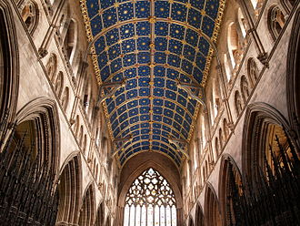 The Awntyrs off Arthure - The 14th century nave of Carlisle Cathedral, once an Augustinian priory. It has been suggested that the author of the Awntyrs may have been a canon at the priory