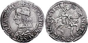 Ludovico II, Marquess of Saluzzo - A cavallotto of Ludovico II of Saluzzo (1475).
