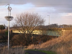 Carmyle - Clydeford bridge and Andy Scott's sculpture
