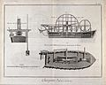 Carpentry; a dredger. Engraving by Defehrt after Lucotte. Wellcome V0023889.jpg