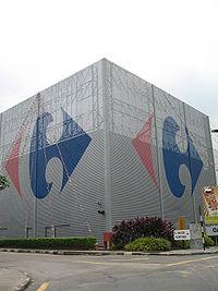 Un hypermarché Carrefour à Johor Bahru en Malaisie
