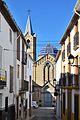 Carrer dels Dolors i església de sant Pere de Beniarrés.JPG