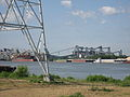 Carrollton Riverbend Levee Aug 2009 River G.JPG
