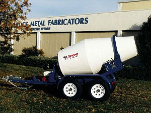 Concrete mixer - 1 Cubic Yard (0.76 m³) Cart-Away Mixing Trailer