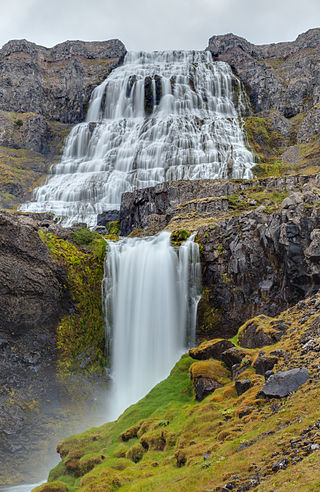 Dynjandi waterfall, a unique feature of Iceland's Westfjords
