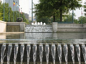 Centennial Olympic Park - Water feature at the Park