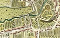 Castle Street, Hertford from A plan of Hartford by J. Andrews and M Wren 1766.jpg