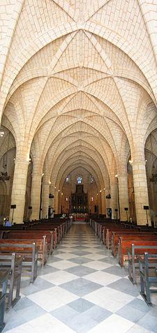 Interior of Catedral Primada in Santo Domingo, Dominican Republic