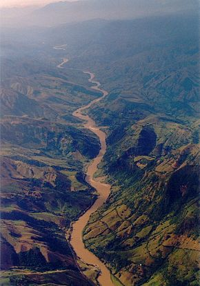 Cauca River Canyon - home of the new wren Thryophilus sernai (Cucarachero Paisa) (7241470126).jpg