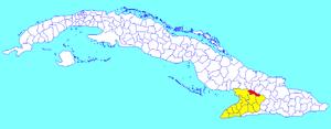 Cauto Cristo - Image: Cauto Cristo (Cuban municipal map)