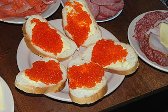 Caviar - Trout roe with bread
