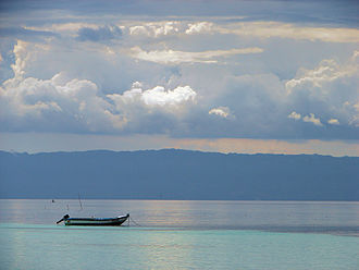 Cebu Strait - The strait with Cebu Island in the background
