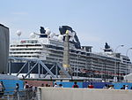 Celebrity Infinity at Liverpool 2013-06-09 - view from Pier Head (3).JPG