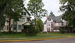 National Register of Historic Places listings in Lincoln County, Wisconsin - Image: Center Avenue Historic District Merrill Wisconsin